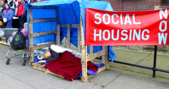 Photo of a STAND for Social Housing in Victoria on Jan 19, 2013