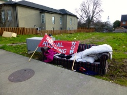 Photo of STAND for Social Housing in Victoria on Jan 19, 2013